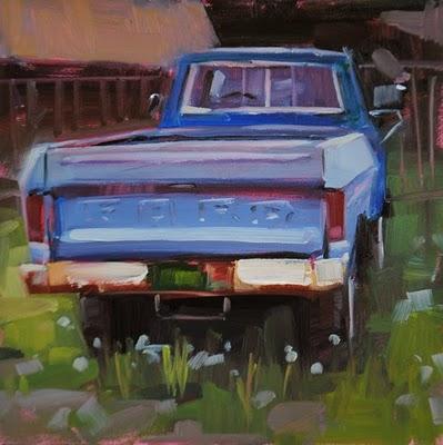 """Workhorse & lights"" original fine art by Carol Marine"