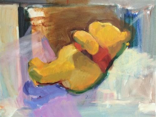 """Pooh Bear"" original fine art by Sharon Savitz"
