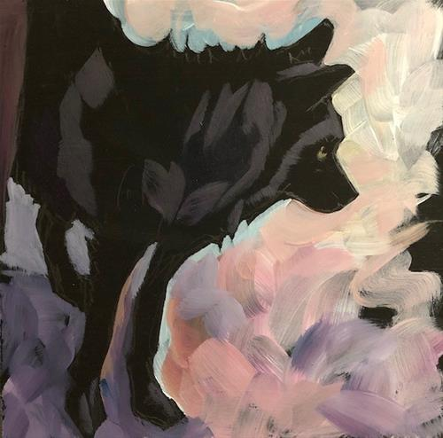 """1/25 Wolf Shy Pink"" original fine art by Kat Corrigan"