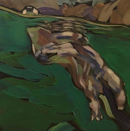 """A Nose Above"" original fine art by Kat Corrigan"