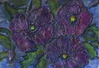 """Purple Pansy"" original fine art by Kara Butler English"