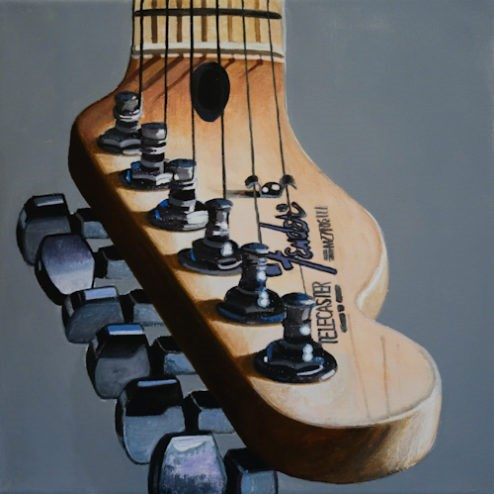 """Australian Fender V"" original fine art by Andre Beaulieu"