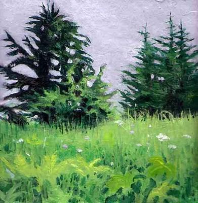 """Near the Top"" original fine art by Carole Baker"