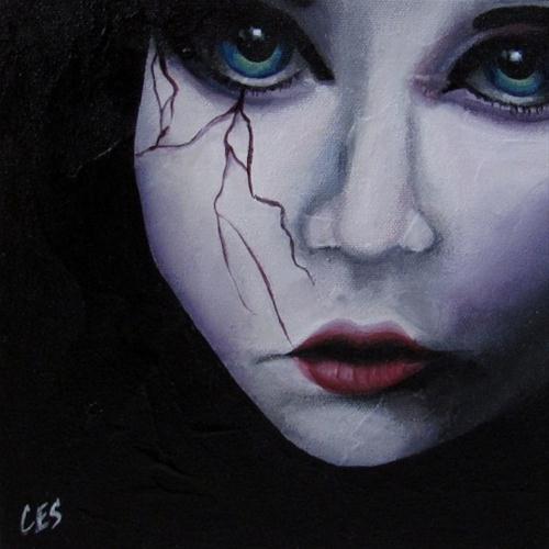 """When Angels Cry"" original fine art by ~ces~ Christine E. S. Code"