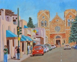 """Santa Fe"" original fine art by Robert Frankis"