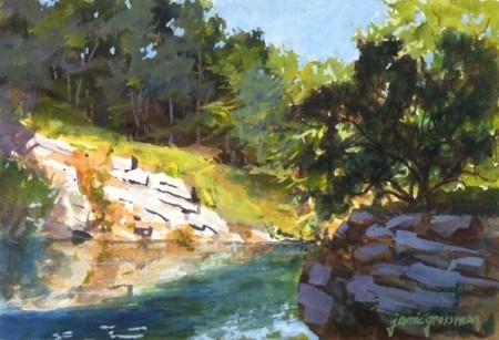 """Quarry Pond Meditation"" original fine art by Jamie Williams Grossman"