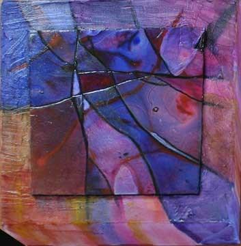 """Little Violet Abstract"" original fine art by Kara Butler English"