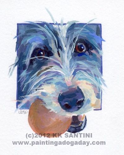 """Sadie Belle, A Painted Sketch"" original fine art by Kimberly Santini"