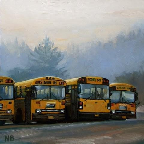 """Thursday Morning"" original fine art by Nora Bergman"