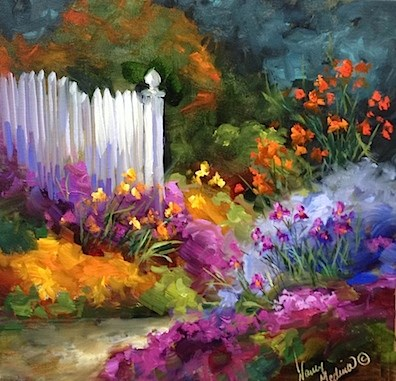 """""""Nine Days Until Painting Brilliant Colors and Garden Dreamers in Italy"""" original fine art by Nancy Medina"""