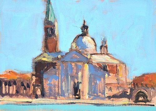"""""""San Giorgio Maggiore, Venice"""" original fine art by Kevin Inman"""