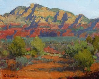 """A Day in the Red Rocks of Sedona"" original fine art by James Coulter"