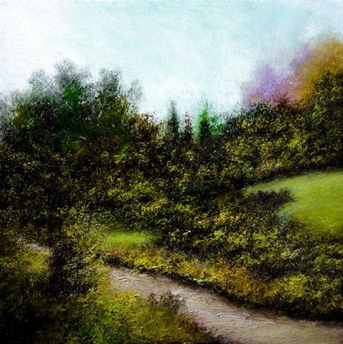 """Path by the Hill"" original fine art by Bob Kimball"