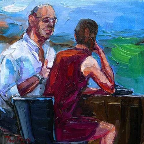 """the café"" original fine art by Jurij Frey"
