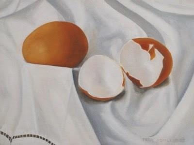 """Egg Mania XVIII"" original fine art by Pera Schillings"
