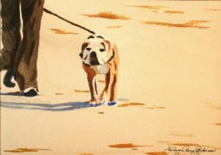 """Walking the Human"" original fine art by JoAnne Perez Robinson"