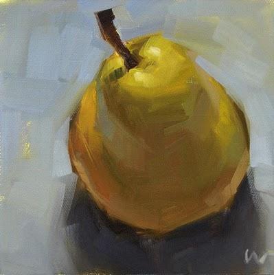 """Just a Pear 1 --- SOLD"" original fine art by Carol Marine"
