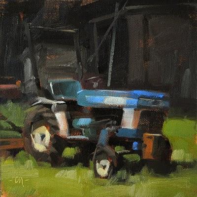 """Mini Tractor"" original fine art by Carol Marine"