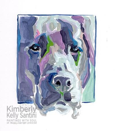"""Untitled"" original fine art by Kimberly Santini"