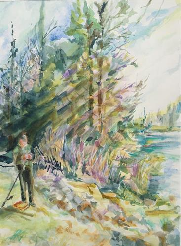 """Raquette River, Adirondack Park, NY"" original fine art by Jean Krueger"