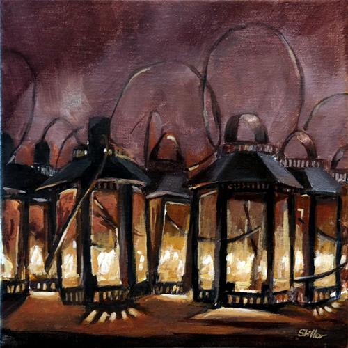 """1548 Lantern Parade"" original fine art by Dietmar Stiller"