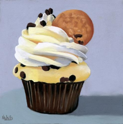 """""""Premiere Cupcake #2"""" original fine art by Ria Hills"""