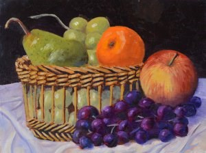 """Basket of Fruit"" original fine art by Robert Frankis"