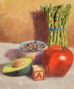 """""""A is for..."""" original fine art by Robert Frankis"""