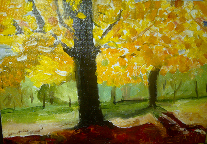 """Fall Shadows Nov 2011"" original fine art by Jo Allebach"