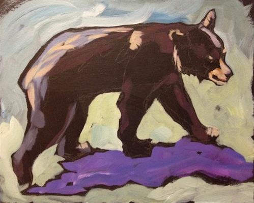 """White Earth Bear- Auction!"" original fine art by Kat Corrigan"
