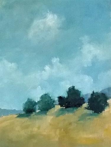 """""""Gold Hill"""" original fine art by Pamela Munger"""