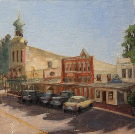 """Main Street"" original fine art by Jane Frederick"