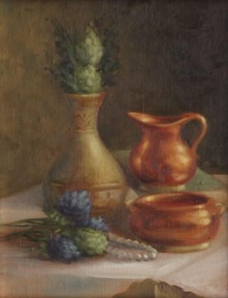 """""""Copper dishes #707"""" original fine art by Dee Lessard"""