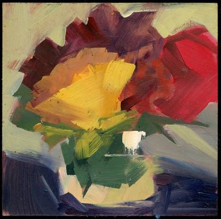 """2567 features"" original fine art by Lisa Daria"