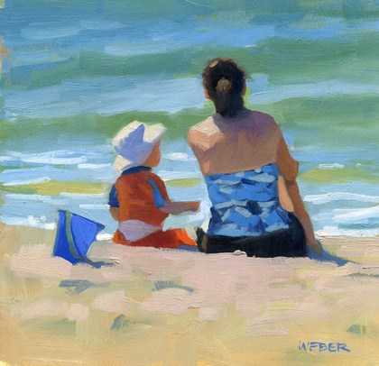 """The blue bucket"" original fine art by Kathy Weber"