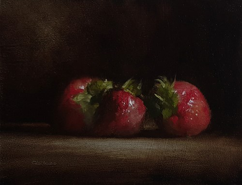"""Strawberries"" original fine art by Neil Carroll"