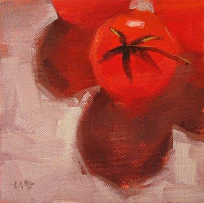 """Tomato March"" original fine art by Carol Marine"