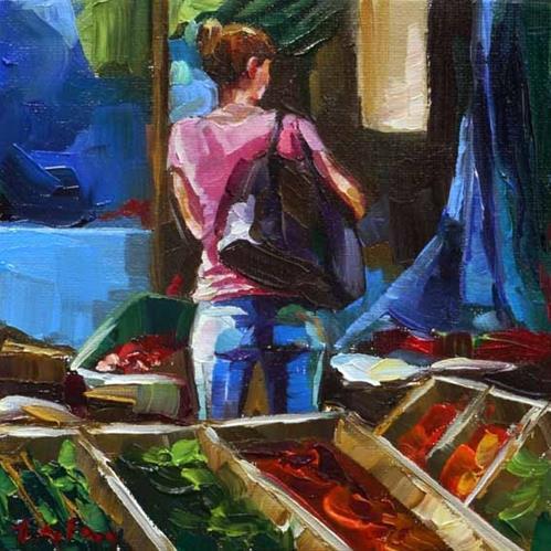 """""""Markt"""" original fine art by Jurij Frey"""