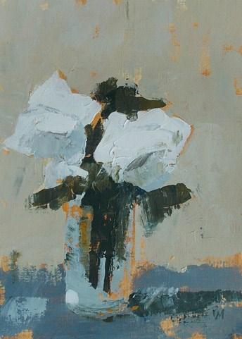 """""""White Floral XV"""" original fine art by Pamela Munger"""