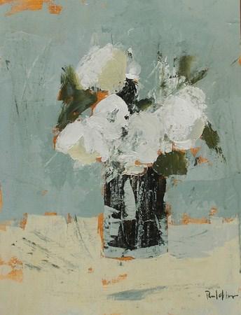 """White Floral XXVIII"" original fine art by Pamela Munger"