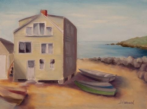 """Fish Beach #1316"" original fine art by Dee Lessard"