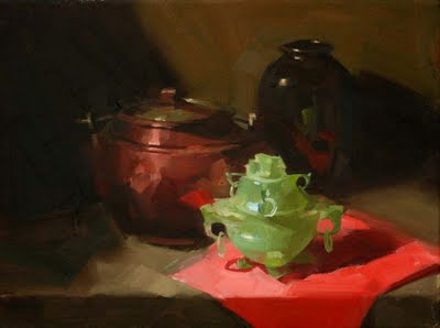 """""""Copper and Jade"""" original fine art by Qiang Huang"""