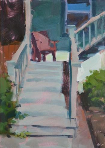 """Little Landing"" original fine art by Carol Marine"