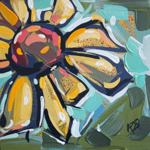 """""""Flower Abstraction 186"""" original fine art by Roger Akesson"""