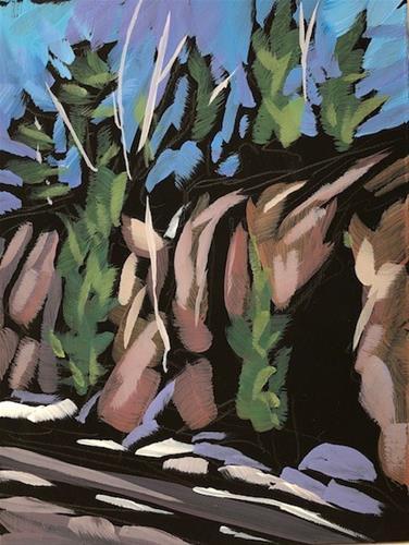"""North Shore Rocky Road"" original fine art by Kat Corrigan"