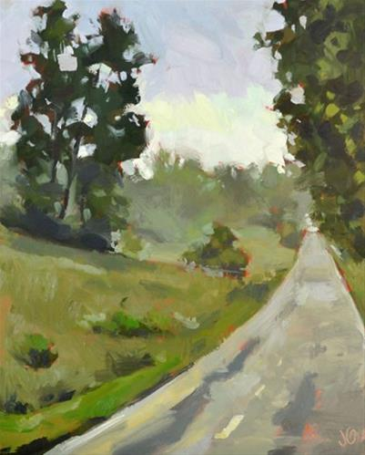 """The Back Way"" original fine art by Jessica Green"