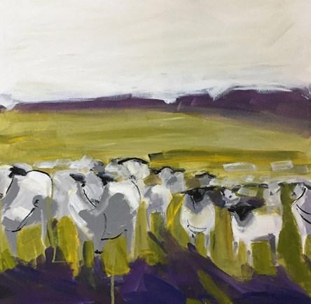 """""""Abstract Sheep"""" original fine art by Pamela Munger"""