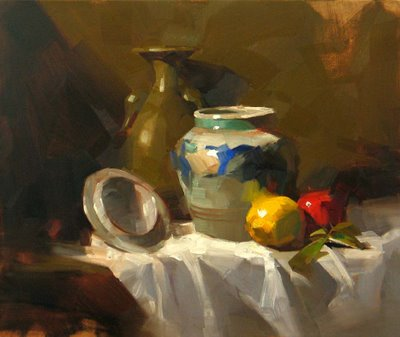 """Pot from Mexico"" original fine art by Qiang Huang"