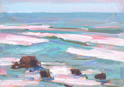 """Cabrillo Surf"" original fine art by Kevin Inman"