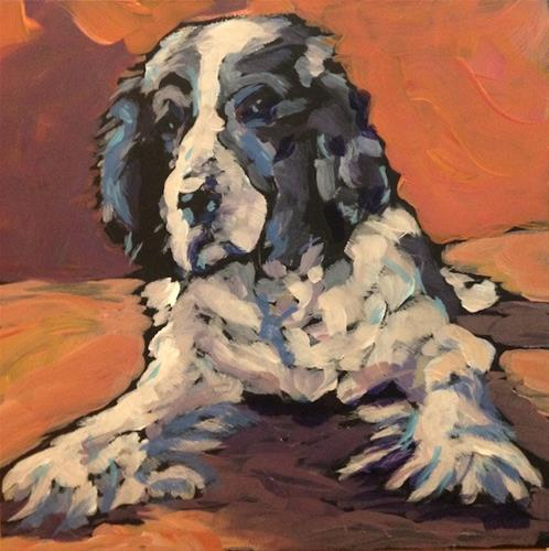 """Charlie of the Magnificent Paws"" original fine art by Kat Corrigan"